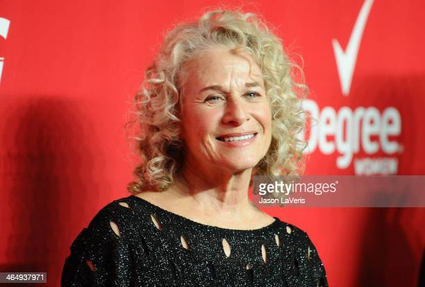 Singer Carole King attends the 2014 MusiCares Person of the Year honoring Carole King at Los Angeles Convention Center on January 24 2014 in Los...