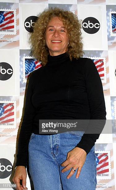 Singer Carole King attends the 'United We Stand' benefit concert October 21 2001 in Washington DC