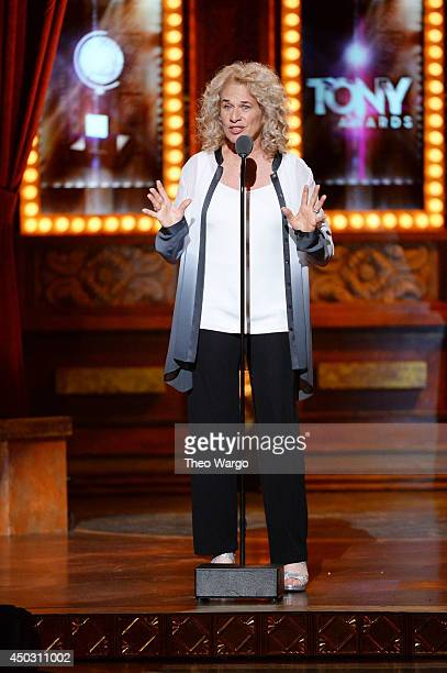 Singer Carole King speaks onstage during the 68th Annual Tony Awards at Radio City Music Hall on June 8 2014 in New York City
