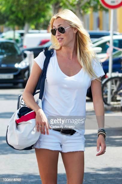 Singer Carolina Cerezuela attends the 37th Copa del Rey Mapfre Sailing Cup on August 1 2018 in Palma de Mallorca Spain