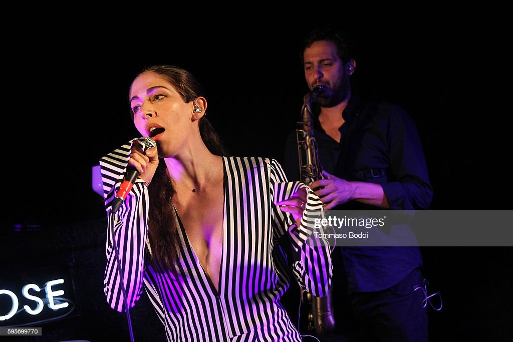 Singer Caroline Polachek of Chairlift performs during the