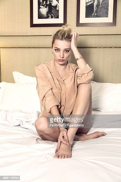 Singer Caroline Vreeland is photographed for Madame Figaro on January 26 2015 in Paris France Shirt underwear earrings and bracelet PUBLISHED IMAGE...
