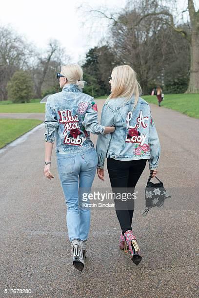 Singer Caroline Vreeland wears a customised vintage jacket Levi's jeans Mary Katrantzou shoes and MaxMara sunglasses With Fashion influencer and...