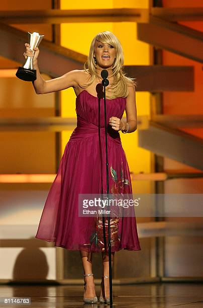 Singer Carrie Underwood accepts the award for Top Female Vocalist onstage during the 43rd annual Academy Of Country Music Awards held at the MGM...