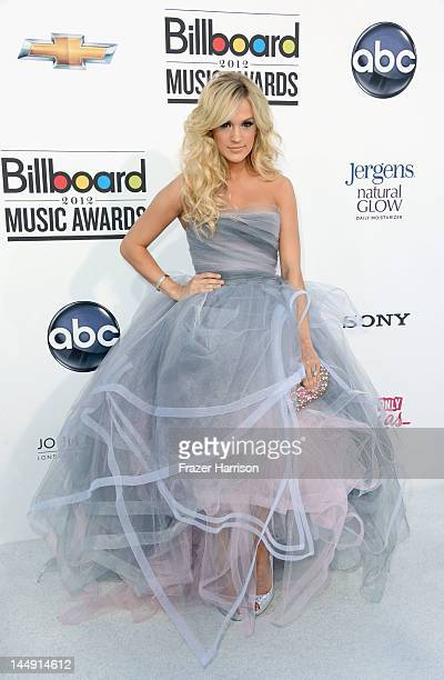Singer Carrie Underwood arrives at the 2012 Billboard Music Awards held at the MGM Grand Garden Arena on May 20 2012 in Las Vegas Nevada