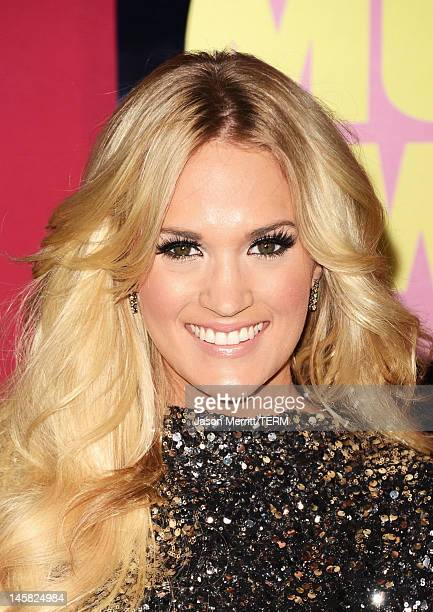 Singer Carrie Underwood arrives at the 2012 CMT Music awards at the Bridgestone Arena on June 6 2012 in Nashville Tennessee