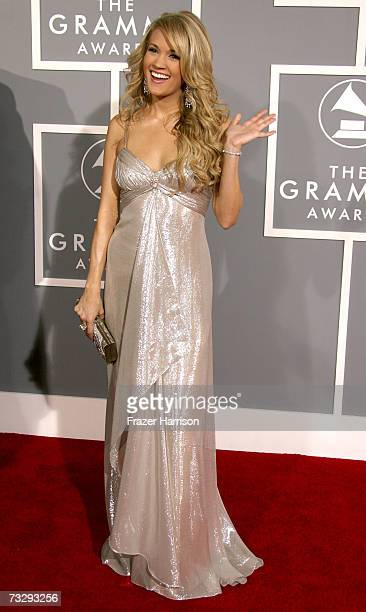 Singer Carrie Underwood arrives at the 49th Annual Grammy Awards at the Staples Center on February 11 2007 in Los Angeles California