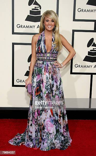 Singer Carrie Underwood arrives at the 50th annual Grammy awards held at the Staples Center on February 10 2008 in Los Angeles California