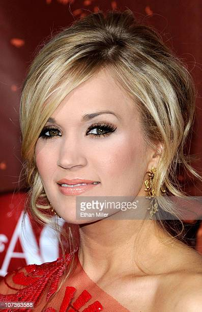Singer Carrie Underwood arrives at the American Country Awards 2010 held at the MGM Grand Garden Arena on December 6 2010 in Las Vegas Nevada