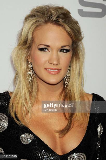 Singer Carrie Underwood attends the 2009 GRAMMY Salute to Icons honoring Clive Davis at the Beverly Hilton Hotel on February 7 2009 in Beverly Hills...