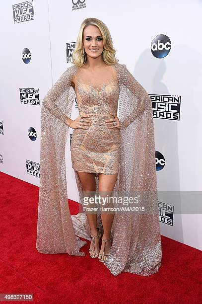 Singer Carrie Underwood attends the 2015 American Music Awards at Microsoft Theater on November 22 2015 in Los Angeles California