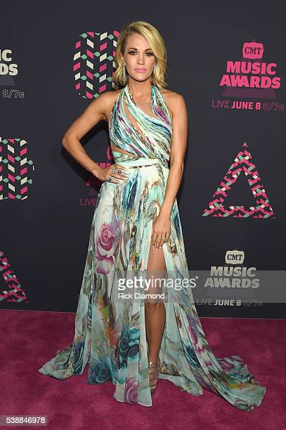 Singer Carrie Underwood attends the 2016 CMT Music awards at the Bridgestone Arena on June 8 2016 in Nashville Tennessee