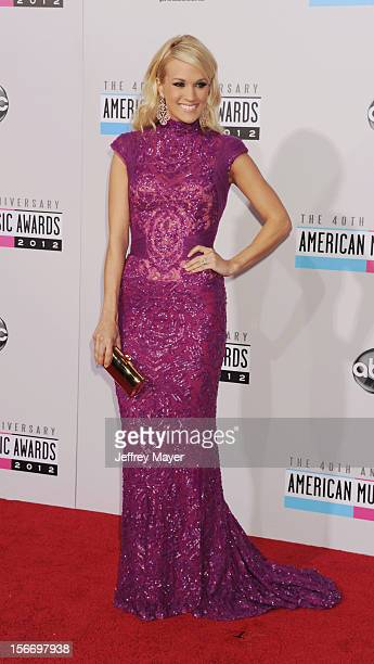 Singer Carrie Underwood attends the 40th Anniversary American Music Awards held at Nokia Theatre LA Live on November 18 2012 in Los Angeles California
