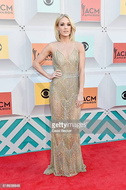 Singer Carrie Underwood attends the 51st Academy of Country Music Awards at MGM Grand Garden Arena on April 3 2016 in Las Vegas Nevada