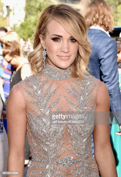 Singer Carrie Underwood attends the 52nd Academy Of Country Music Awards at Toshiba Plaza on April 2 2017 in Las Vegas Nevada