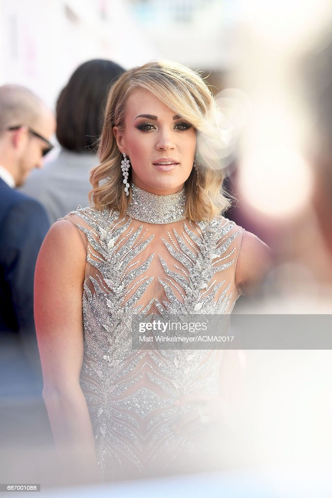 Singer Carrie Underwood attends the 52nd Academy of Country Music Awards at T-Mobile Arena on April 2, 2017 in Las Vegas, Nevada.