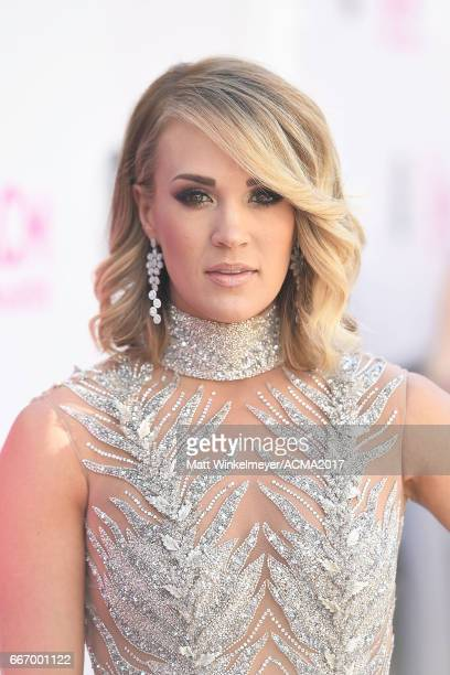 Singer Carrie Underwood attends the 52nd Academy of Country Music Awards at TMobile Arena on April 2 2017 in Las Vegas Nevada