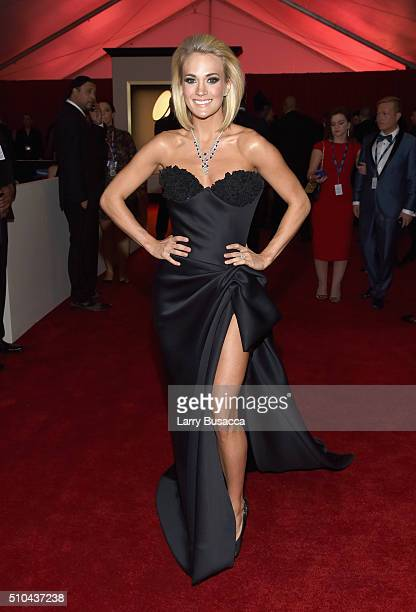 Singer Carrie Underwood attends The 58th GRAMMY Awards at Staples Center on February 15 2016 in Los Angeles California