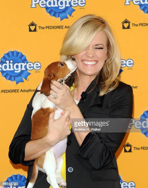 Singer Carrie Underwood attends the 6th Annual Pedigree Adoption Drive at Bidawee Manhattan Shelter on March 30 2010 in New York City