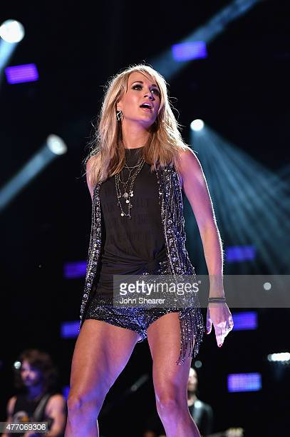 Singer Carrie Underwood performs onstage during the 2015 CMA Festival on June 13, 2015 in Nashville, Tennessee.