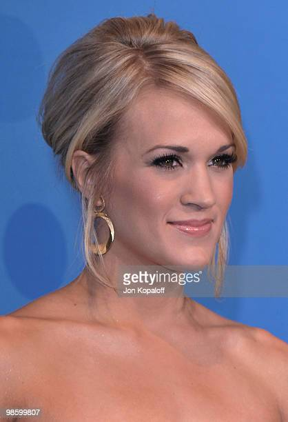 Singer Carrie Underwood poses at Idol Gives Back 2010 at Pasadena Civic Center on April 21, 2010 in Pasadena, Texas.