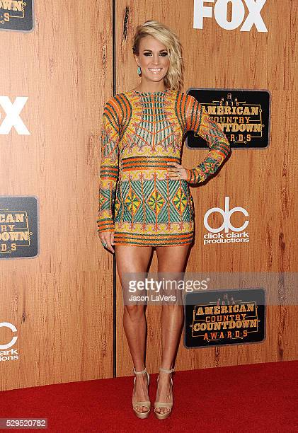 Singer Carrie Underwood poses in the press room at the 2016 American Country Countdown Awards at The Forum on May 01 2016 in Inglewood California