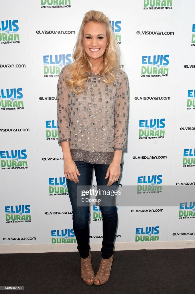 Carrie Underwood Visits The Z100 Elvis Duran Morning Show : News Photo
