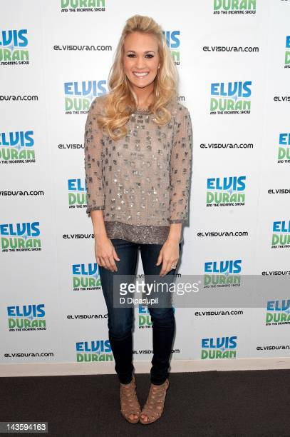 Singer Carrie Underwood visits the Z100 Elvis Duran Morning Show at Z100 Studio on April 30 2012 in New York City