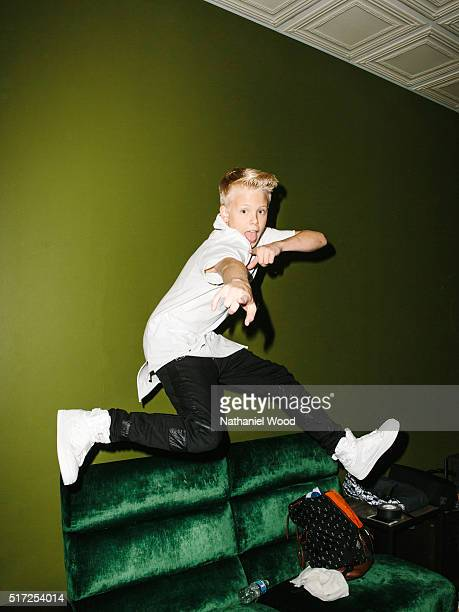 Singer Carson Lueders is photographed for TeenVoguecom on March 14 2016 in Los Angeles California