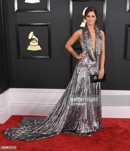 Singer Cassadee Pope arrives at the 59th GRAMMY Awards at the Staples Center on February 12 2017 in Los Angeles California
