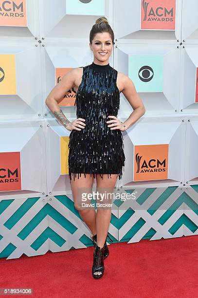 Singer Cassadee Pope attends the 51st Academy of Country Music Awards at MGM Grand Garden Arena on April 3 2016 in Las Vegas Nevada