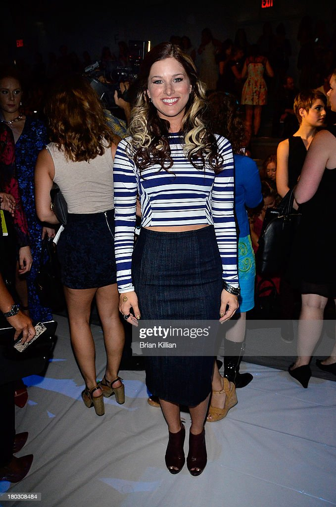 Singer Cassadee Pope attends the Nanette Lepore show during Spring 2014 Mercedes-Benz Fashion Week at The Stage at Lincoln Center on September 11, 2013 in New York City.
