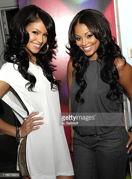 Singer Cassie and actress Lauren London visit MTV's Sucker Free at MTV Studios Times Square on October 17 2007 in New York City