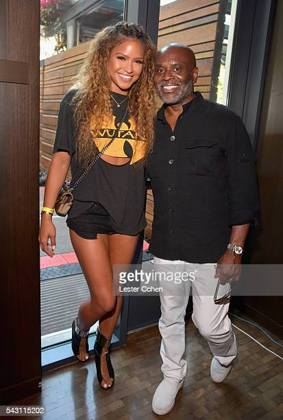 Singer Cassie and Chairman and CEO of Epic Records LA Reid attend EpicFest 2016 hosted by LA Reid and Epic Records at Sony Studios on June 25 2016 in...