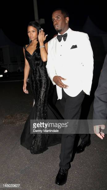 Singer Cassie and Sean Combs attend the 65th Cannes Film Festival on May 22, 2012 in Cannes, France.