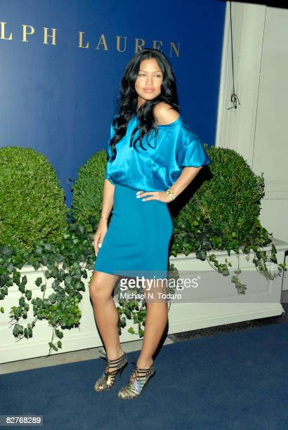 Singer Cassie attends the Lebron James Family Foundation Benefit for an evening of cocktails and private shopping at the Ralph Lauren Mansion on...