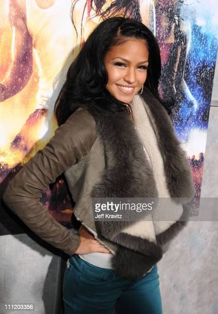 Singer Cassie attends Touchstone Pictures' and Summit Entertainment's world premiere of 'Step Up 2 The Streets' at the Arclight Theatre on February 4...