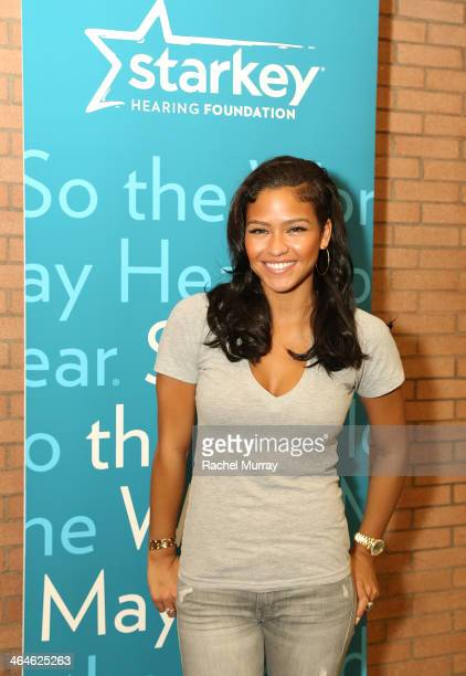 Singer Cassie Ventura attends the Starkey Hearing Foundation Mission during GRAMMY Camp at University of Southern California on January 22 2014 in...