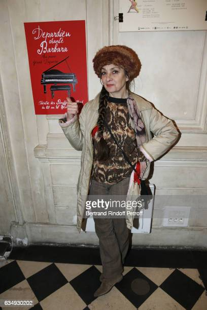 Singer Catherine Ringer attends Depardieu chante Barbara at Theatre des Bouffes du Nord on February 11 2017 in Paris France