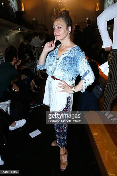 Singer Catherine Ringer attends the Jean Paul Gaultier Haute Couture Fall/Winter 20162017 show as part of Paris Fashion Week on July 6 2016 in Paris...