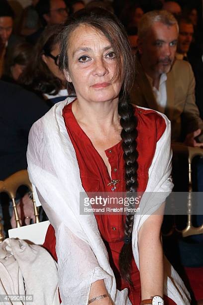 Singer Catherine Ringer attends the Jean Paul Gaultier show as part of Paris Fashion Week Haute Couture Fall/Winter 2015/2016 on July 8 2015 in Paris...