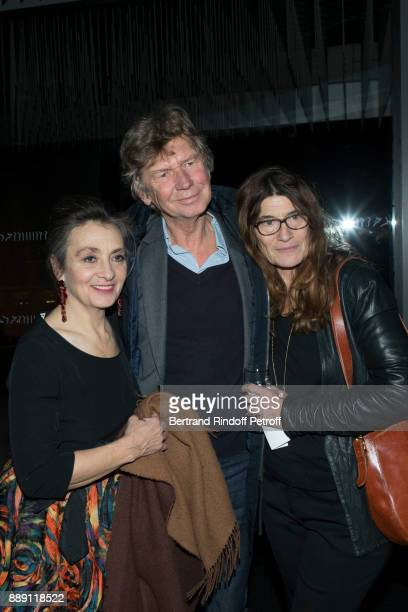 Singer Catherine Ringer Director Etienne Chatiliez and his wife attend The Celebration of Gabriel Yared 's Film Music at Philharmonie De Paris on...
