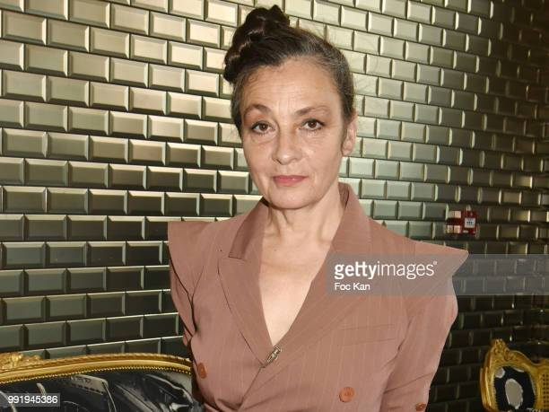 Singer Catherine Ringer from Rita Mitsouko band attends the JeanPaul Gaultier Haute Couture Fall Winter 2018/2019 show as part of Paris Fashion Week...