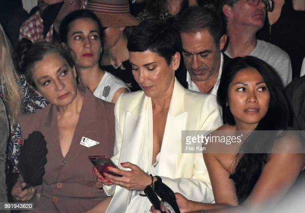 Singer Catherine Ringer from Rita Mitsouko band Cristina Cordula and Anggun attend the JeanPaul Gaultier Haute Couture Fall Winter 2018/2019 show as...
