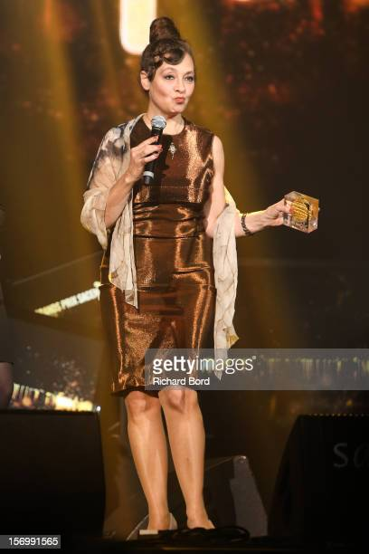 Singer Catherine Ringer receives the 'Grand Prix de la SACEM' during the 'Grand Prix SACEM 2012' at Casino de Paris on November 26 2012 in Paris...