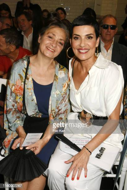 Singer Catherine Ringer from Les Rita Mitsoukos band and TV presenter top model Cristina Cordula attend the Jean Paul Gaultier Haute Couture...