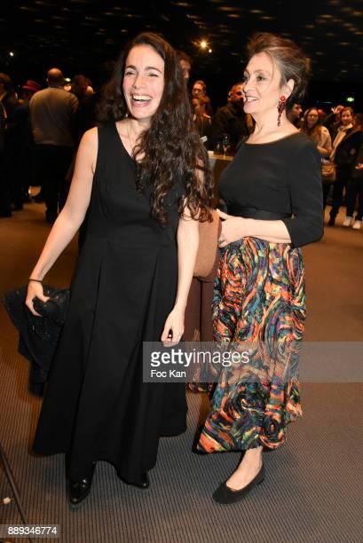 Singer CatherineRinger and singer Yael Naim attend Celebration Of Gabriel Yared's Film Music At The Philharmonie De Paris on December 9 2017 in Paris...