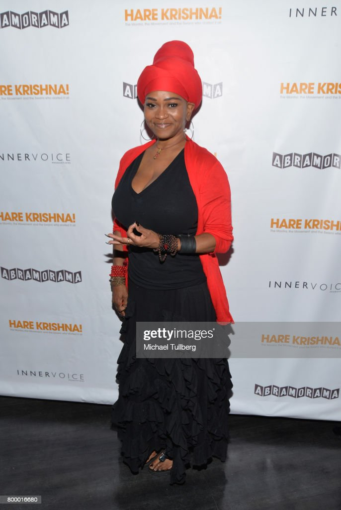 Singer C.C. White attends a screening of Abramorama's 'Hare Krishna!: The Mantra, the Movement and the Swami Who Started It All' at Laemmle Monica Film Center on June 22, 2017 in Santa Monica, California.