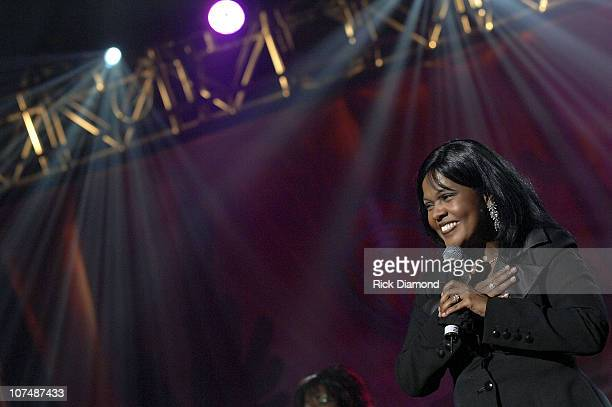 Singer CeCe Winans performs at the 9th Annual NFL Sanctioned 2008 Super Bowl Gospel Celebration held at Phoenix Symphony Hall on February 1 2008 in...