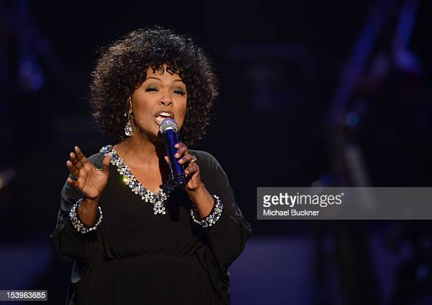 Singer CeCe Winans performs onstage during We Will Always Love You A GRAMMY Salute to Whitney Houston at Nokia Theatre LA Live on October 11 2012 in...